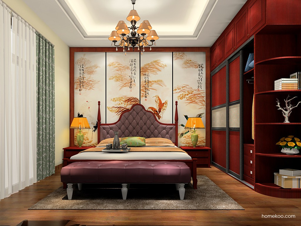 诺曼红影卧房家具A19272