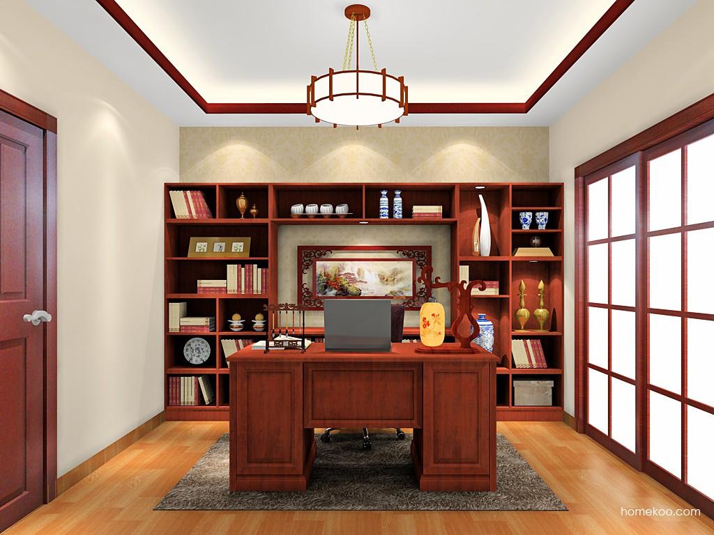 新中式主义书房家具C19299