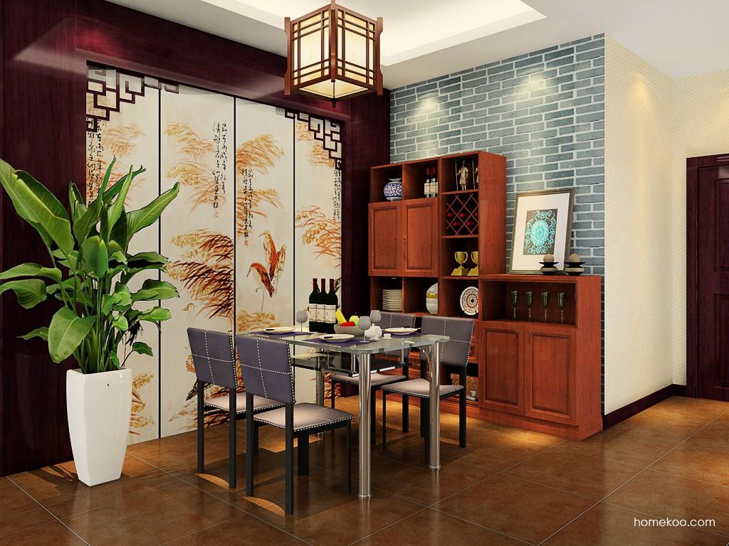 新中式主义餐厅家具E17620