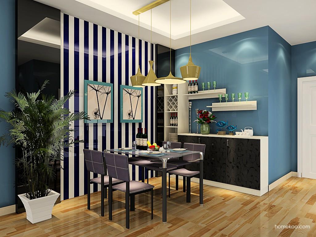 米兰剪影餐厅家具E17634