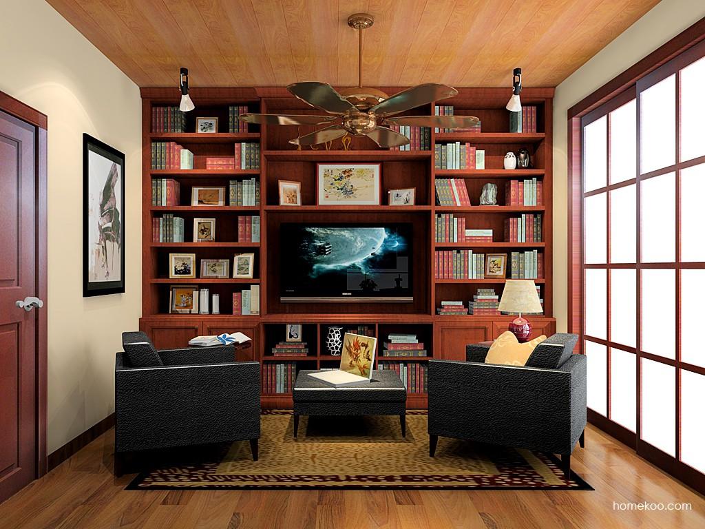 新中式主义书房家具C19317