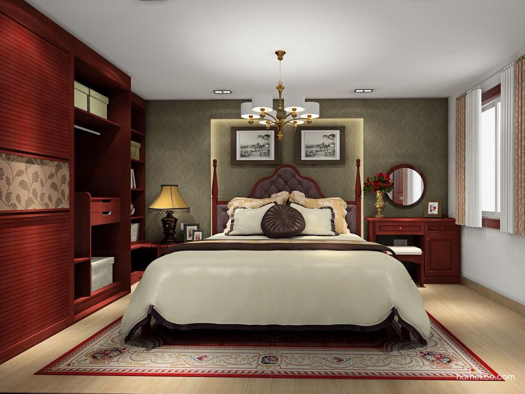 诺曼红影卧房家具A19319