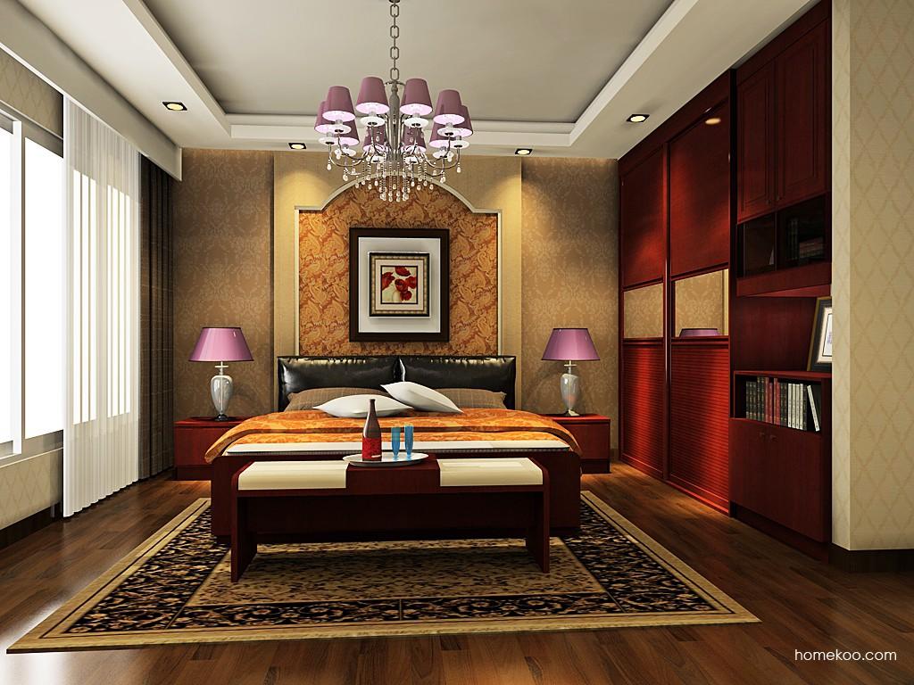 诺曼红影卧房家具A19350