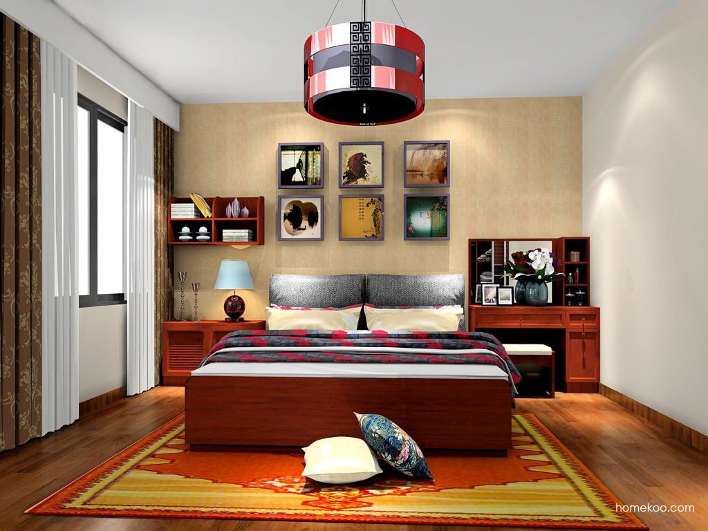 新中式主义卧房家具A19424