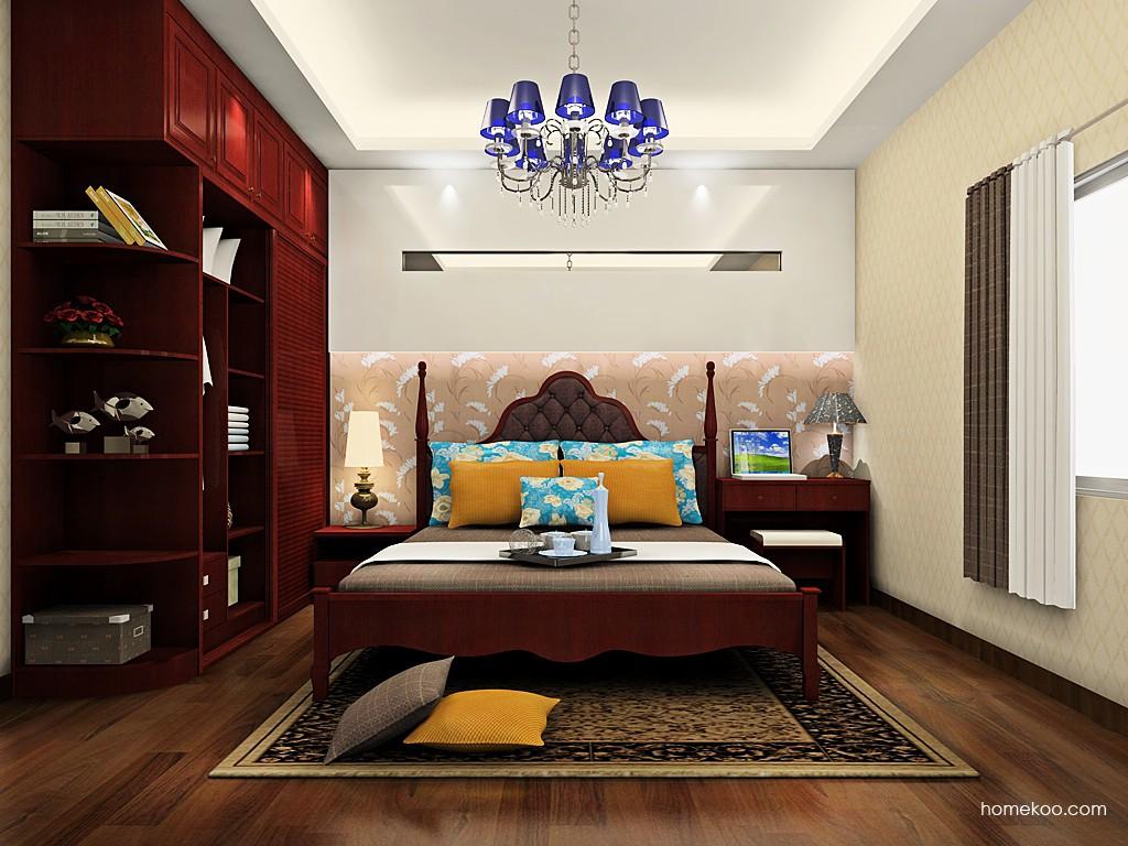 诺曼红影卧房家具A19445