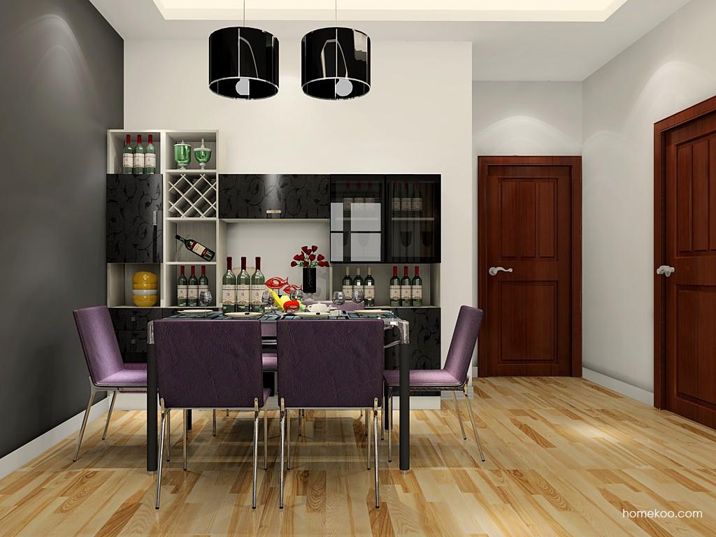 米兰剪影餐厅家具E17650