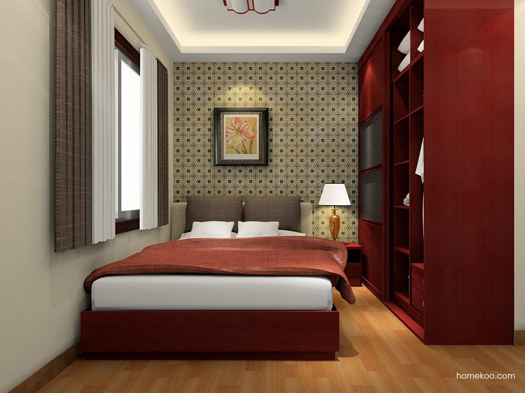 诺曼红影卧房家具A19623