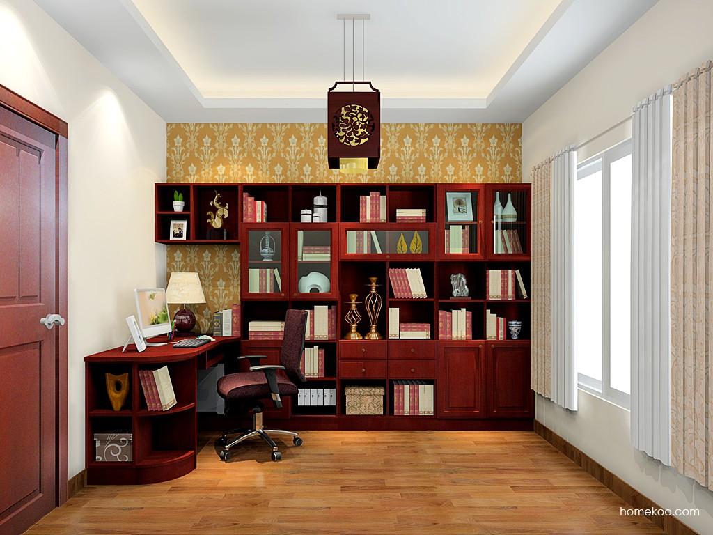 诺曼红影书房家具C19508