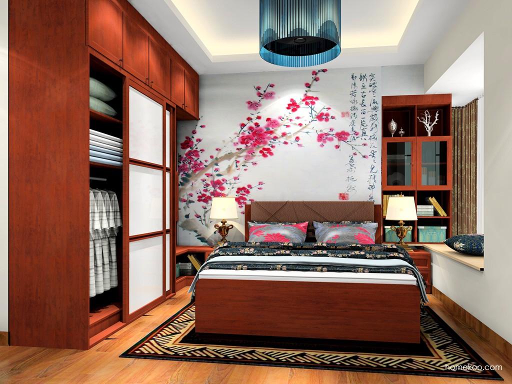 新中式主义卧房家具A19629