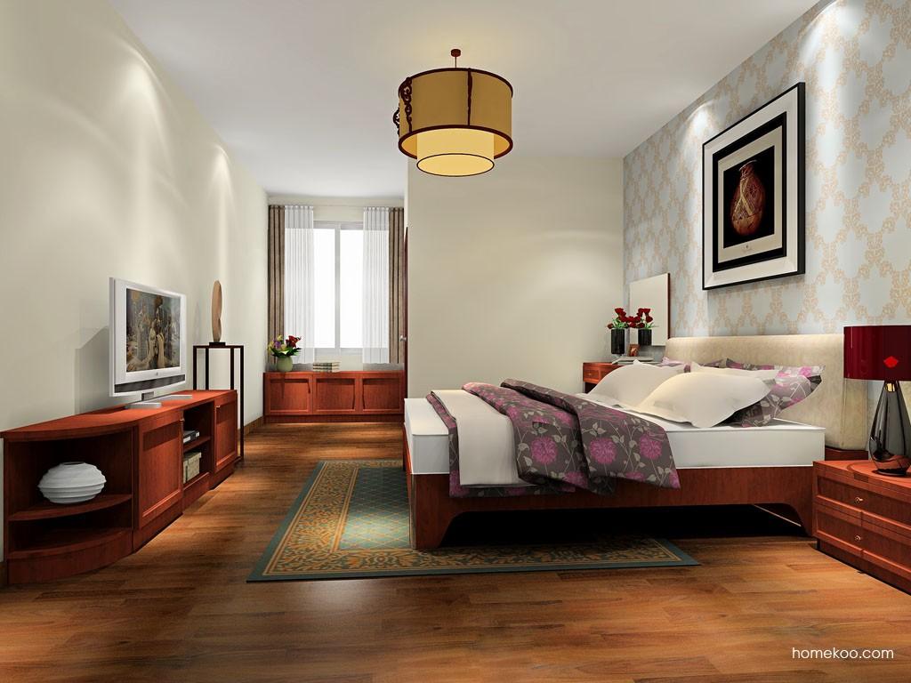 新中式主义卧房家具A19747