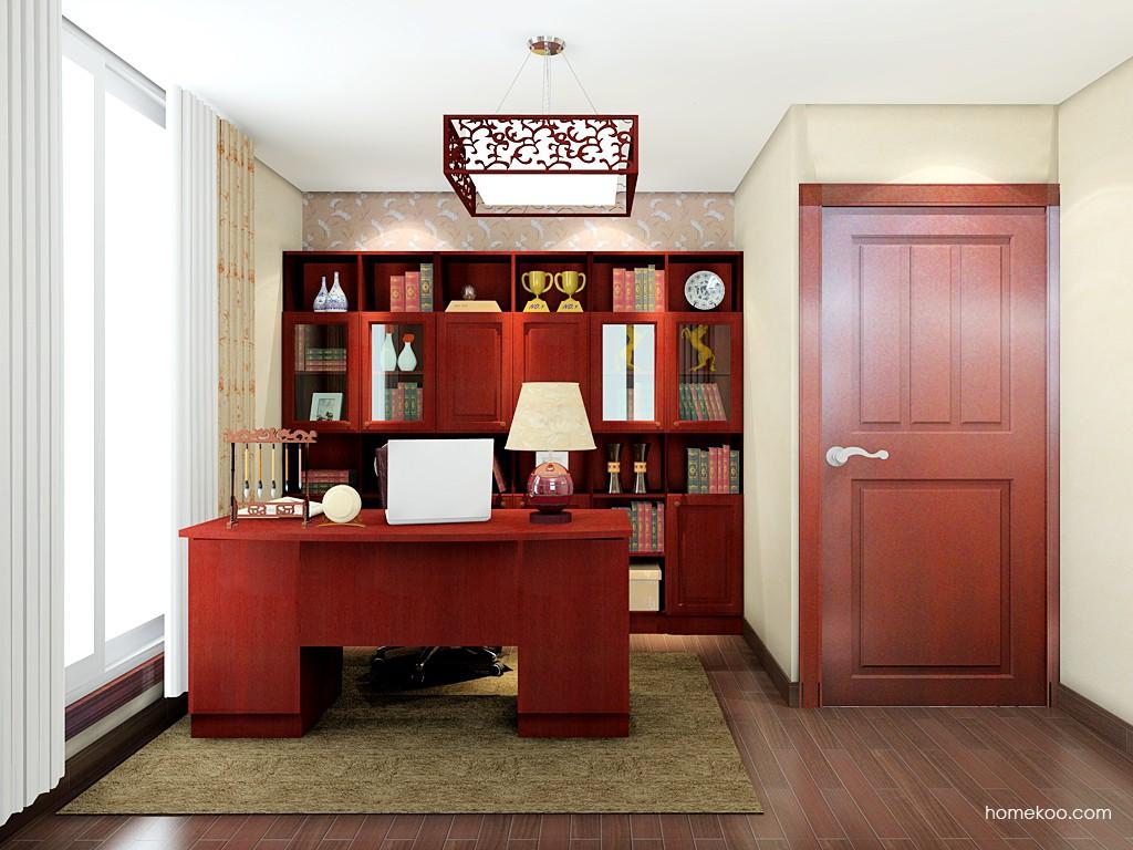 诺曼红影书房家具C19544