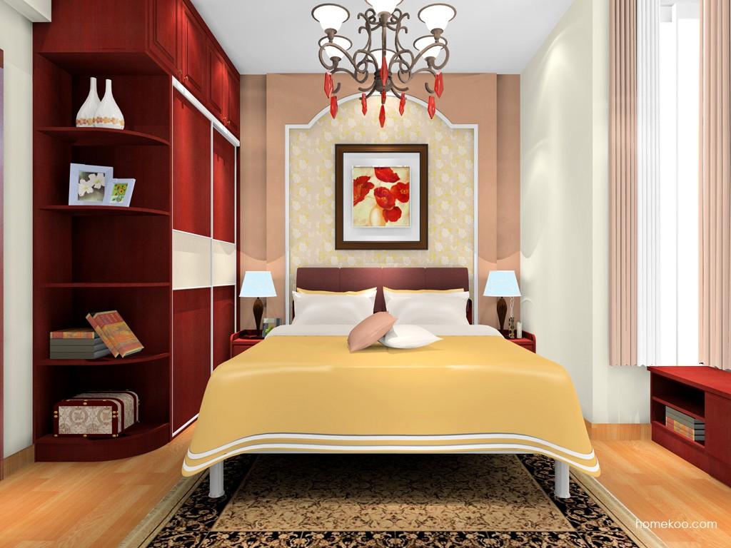 诺曼红影卧房家具A19876