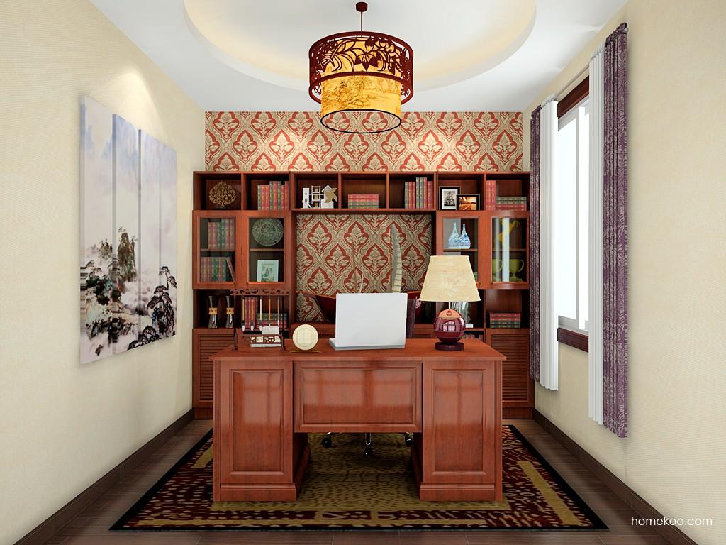 新中式主义书房家具C19643