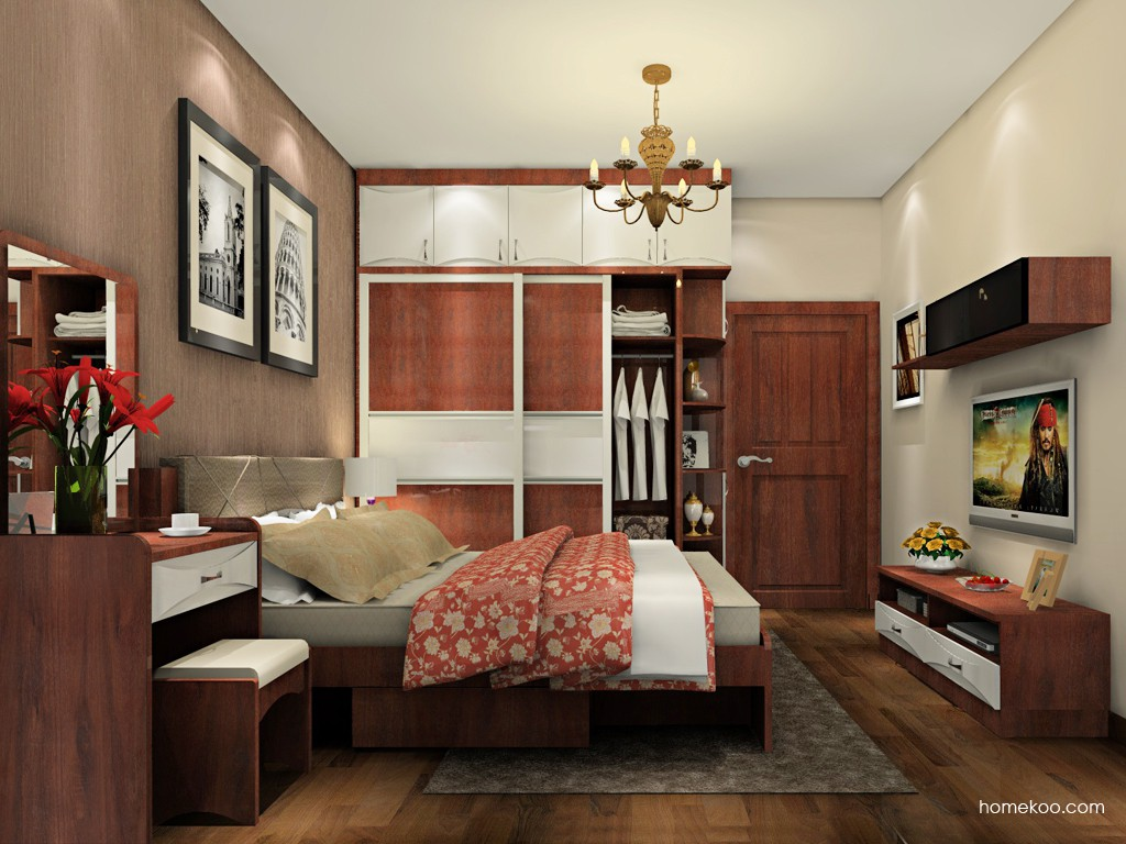 挪威月色卧房家具A20001