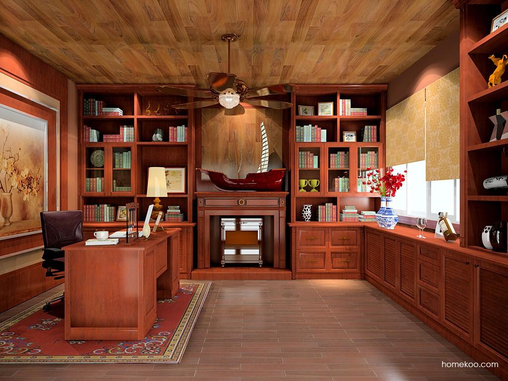 新中式主义书房家具C19661