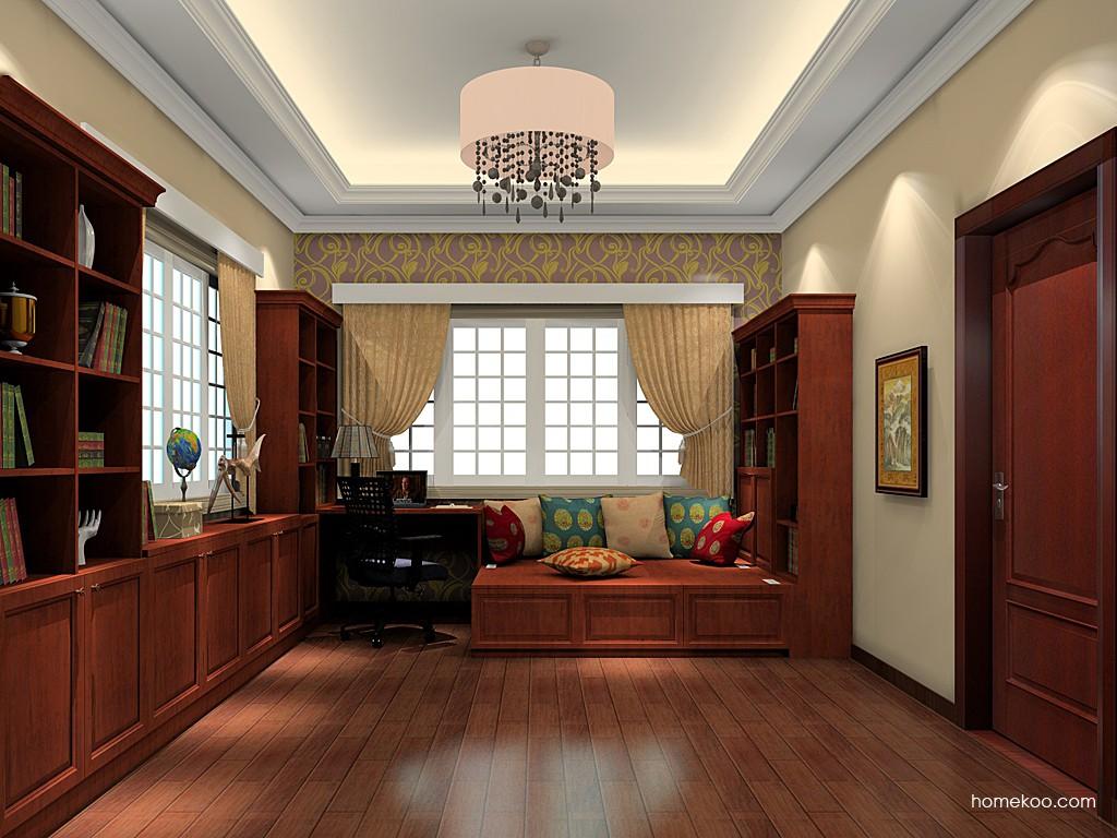 新中式主义书房家具C19663