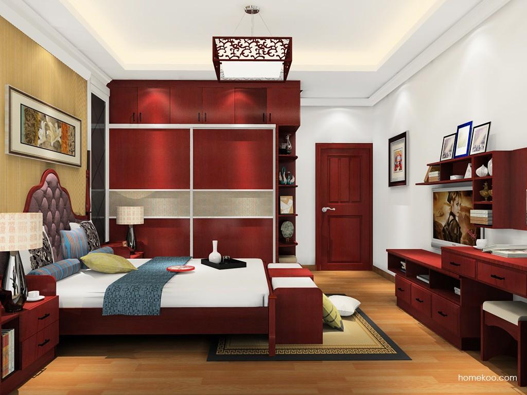 诺曼红影卧房家具A20044
