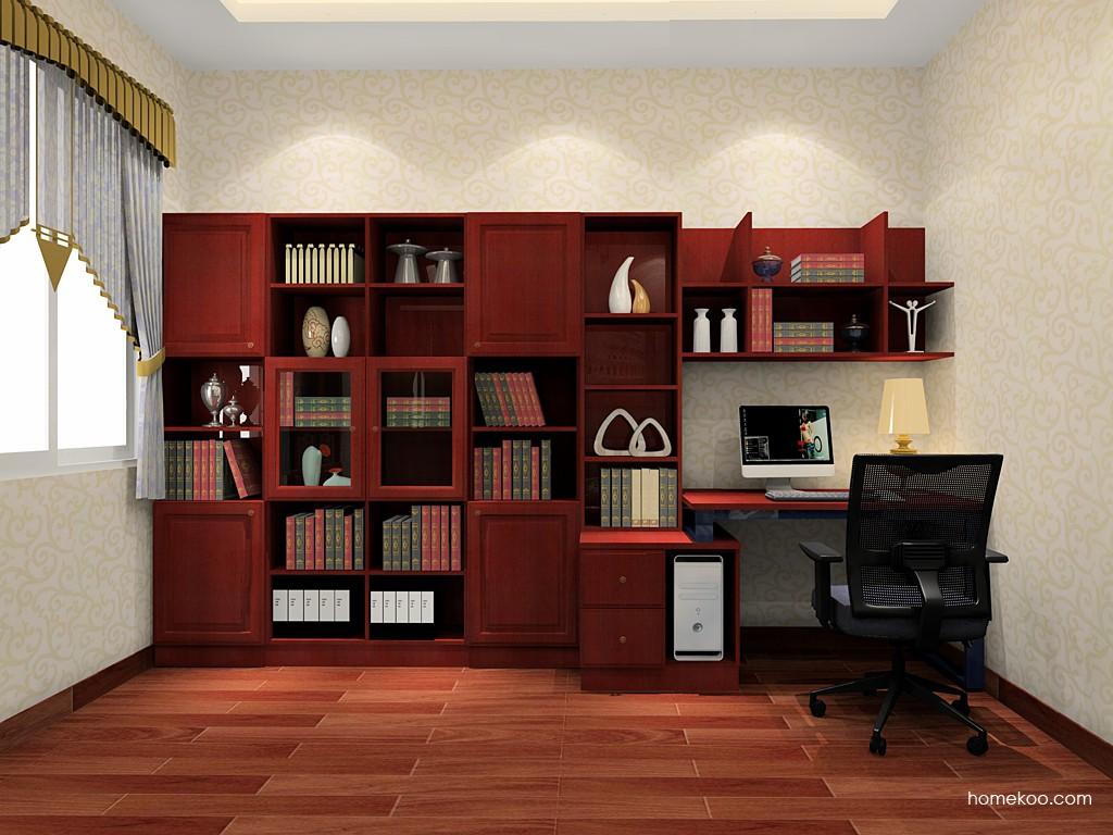 诺曼红影书房家具C19678