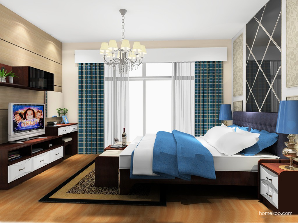 挪威月色卧房家具A20073