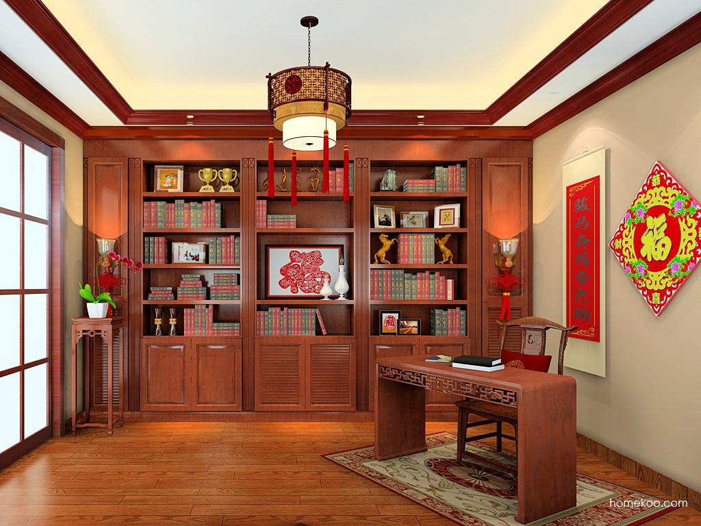 新中式主义书房家具C19693