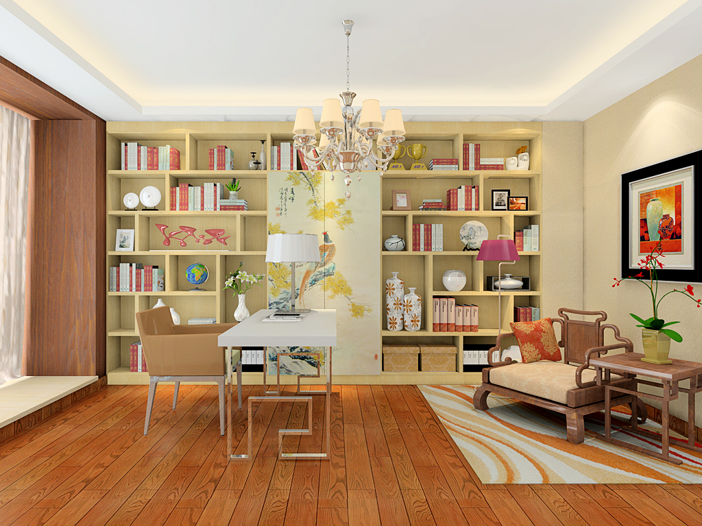 新实用主义书房家具C19738