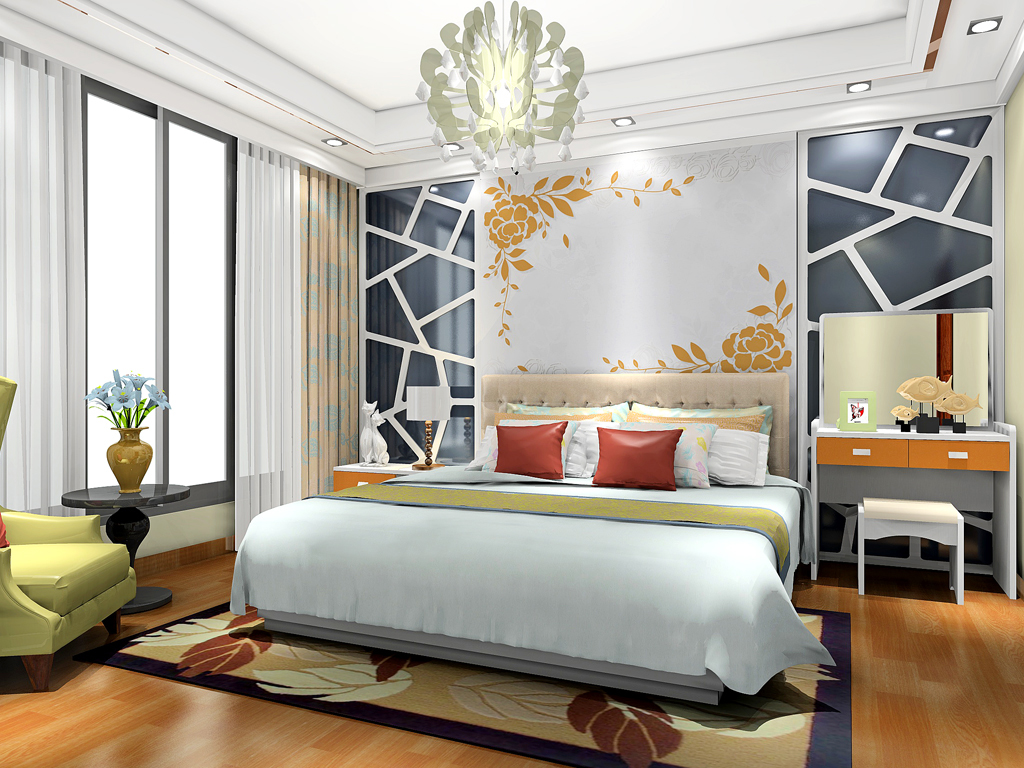 新实用主义卧房家具A20129