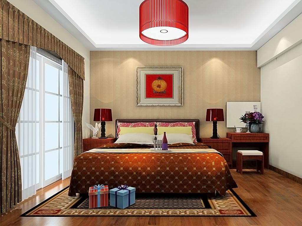 新中式主义卧房家具A20136