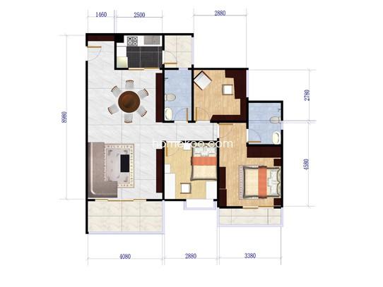 H24栋01户型图114.8�O