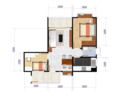 世泽轩1栋06单位建筑面积62.88�O