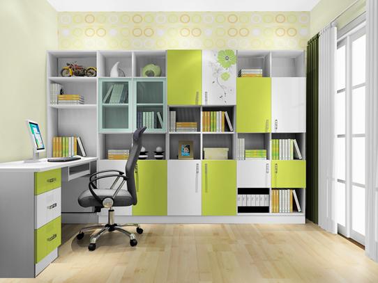凹位巧妙利用 布置完美书房