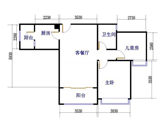 4梯06户型2室2厅1卫 74�O