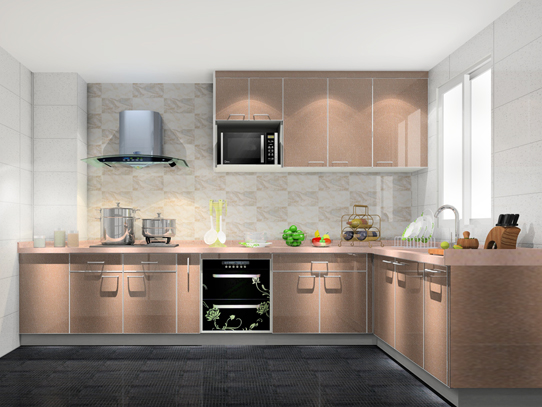 L型厨柜定制出实用厨房