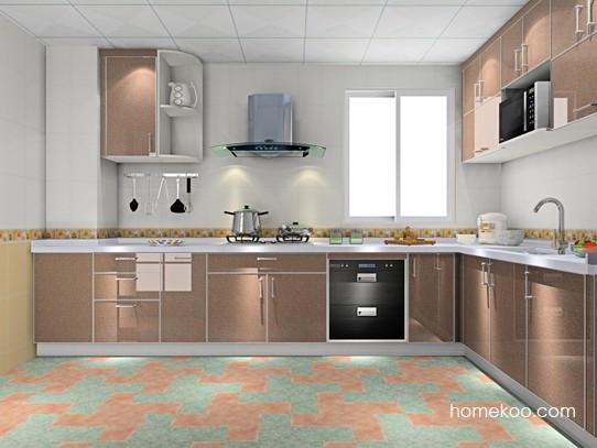 多门有柱厨房定制完美空间