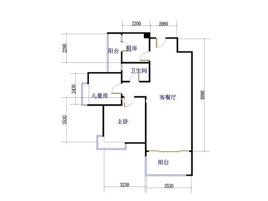 水悦清华77�O二房两厅