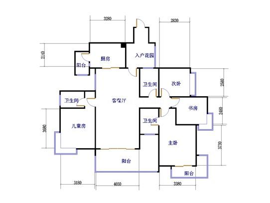 C3C3d 四室两厅两卫 169�O