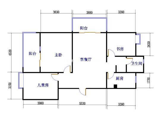 A33室2厅1卫 112�O