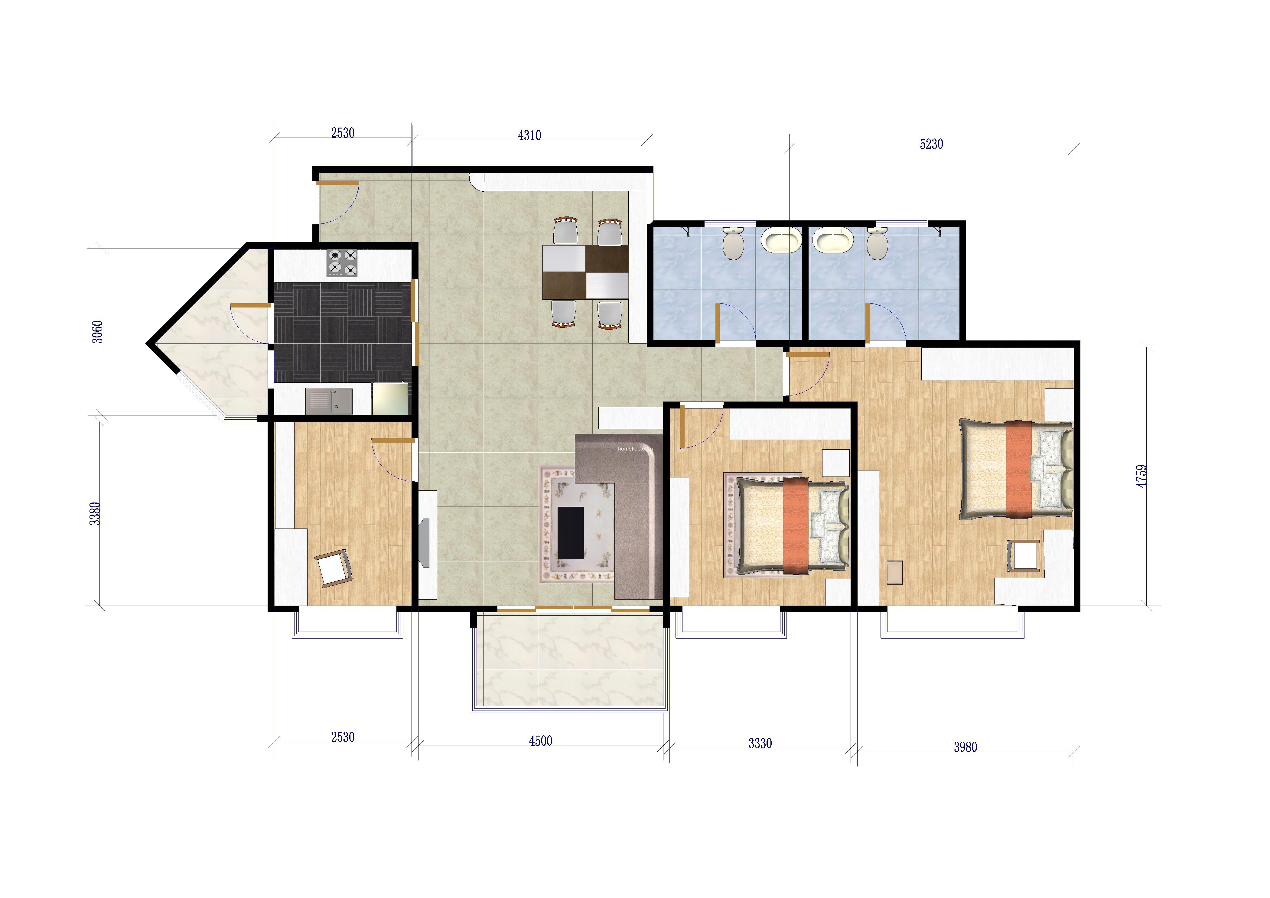三室两厅两卫 99�O