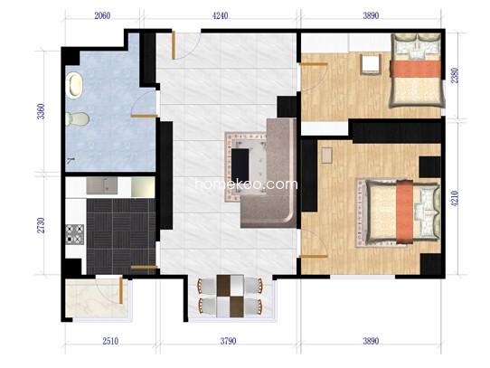 悠唐麒麟公馆HIP公寓8号楼2座03户型