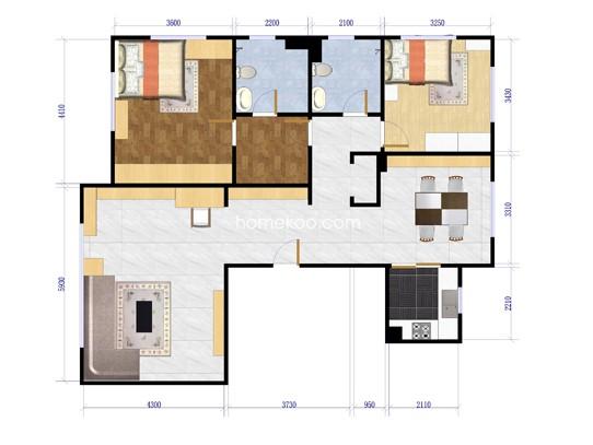 2室2厅2卫1厨149.45�O