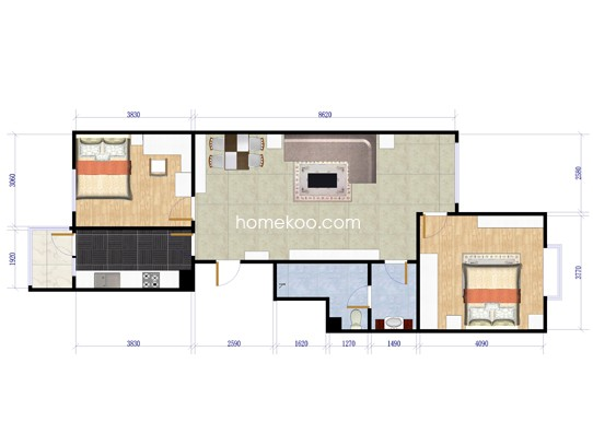 8号楼D-2户型图