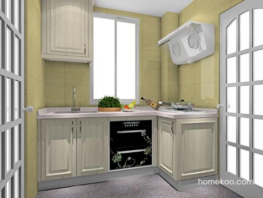3�O门窗相邻平窗2扇门厨房