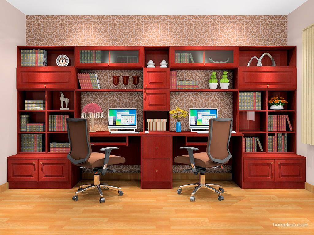诺曼红影书房家具C18516