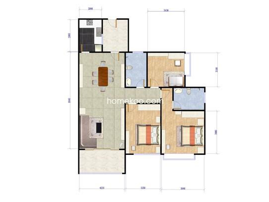 4#、6#栋两房两厅01、02单位108�O