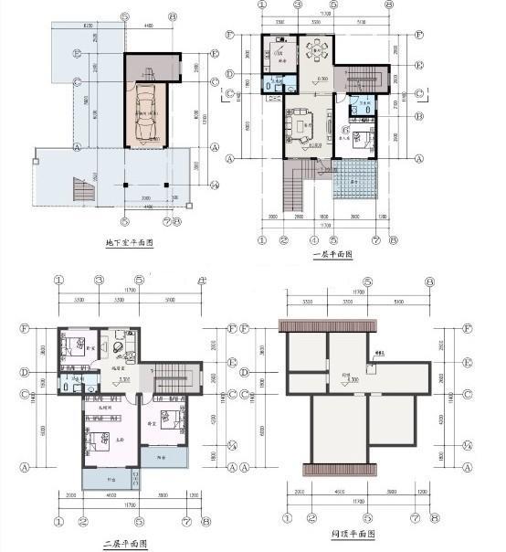 全新三层楼房设计图