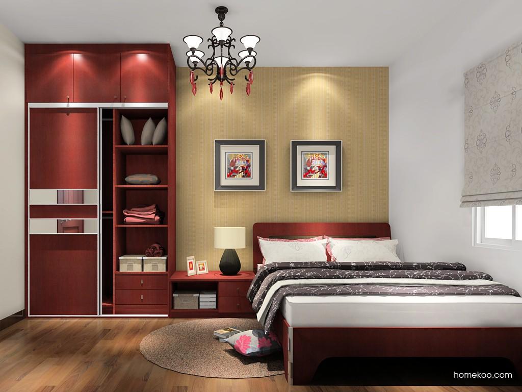 诺曼红影卧房家具A18448