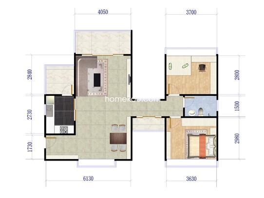 3栋奇数楼层2室2厅1卫1厨 84�O