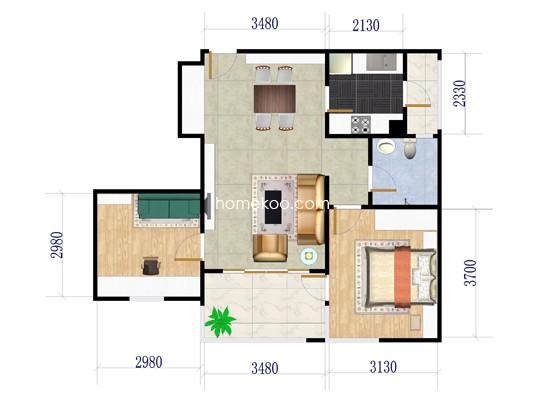2室2厅1卫 85.30�O