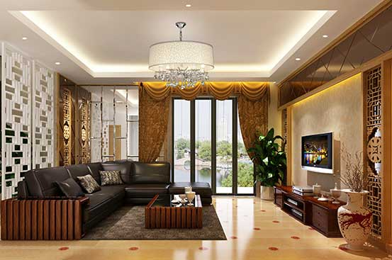139平米三居室中式装修风格【附效果图】