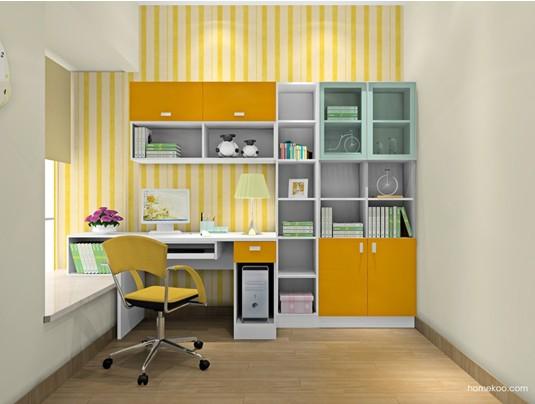 多功能创意书柜组合设计