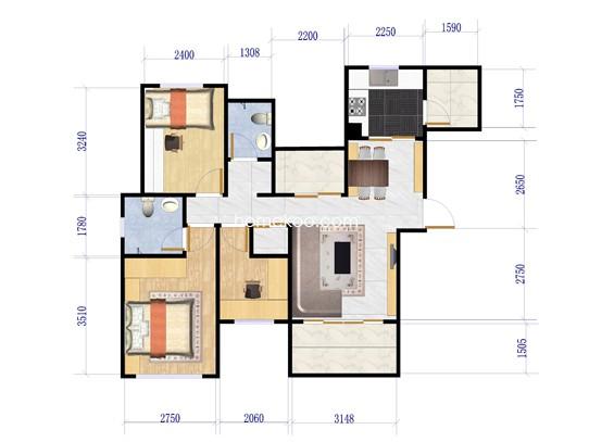 3#3G三室二厅二卫